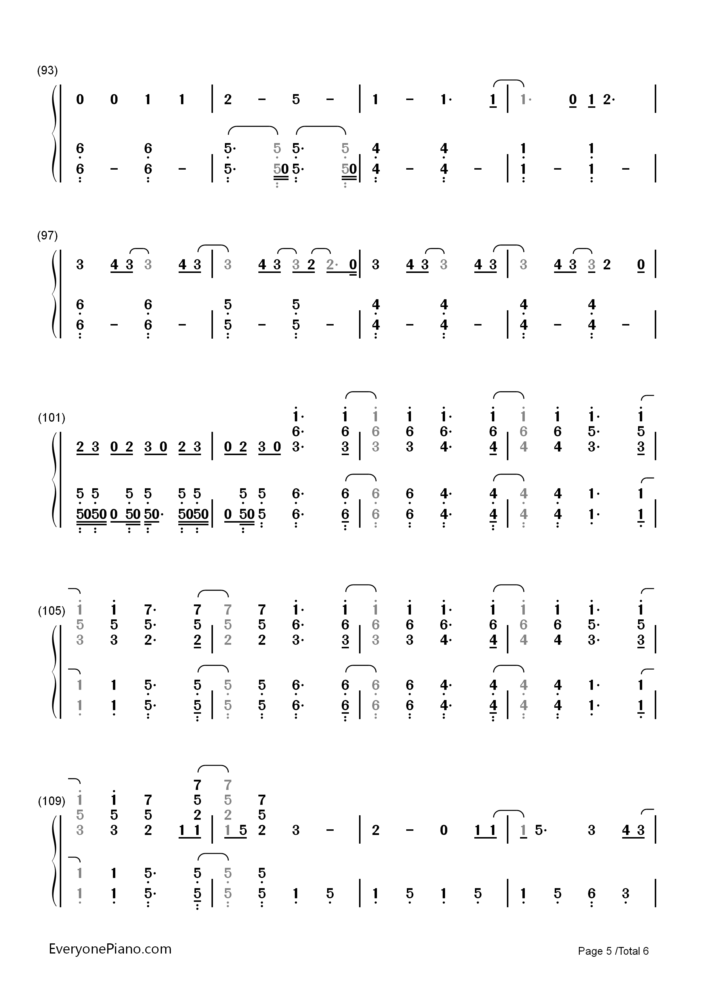 Still breathing green day numbered musical notation preview 5 listen now print sheet still breathing green day numbered musical notation preview 5 hexwebz Image collections