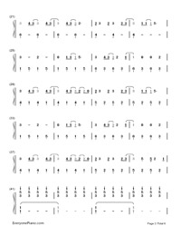 Still Breathing-Green Day-Numbered-Musical-Notation-Preview-2