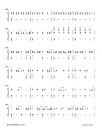 Still Breathing-Green Day-Numbered-Musical-Notation-Preview-3