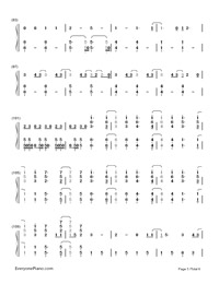 Still Breathing-Green Day-Numbered-Musical-Notation-Preview-5