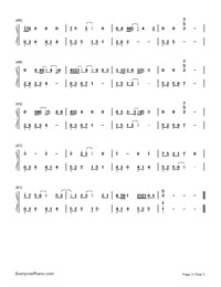Beautiful Birds-Passenger,Birdy Numbered Musical Notation Preview 3