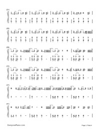 Don't Wanna Know-Maroon 5,Kendrick Lamar-Numbered-Musical-Notation-Preview-2