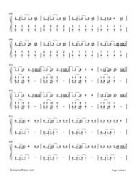 Don't Wanna Know-Maroon 5,Kendrick Lamar-Numbered-Musical-Notation-Preview-3