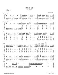 17 Again-Back to School Theme-Numbered-Musical-Notation-Preview-1