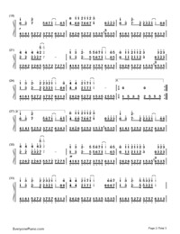 17 Again-Back to School Theme-Numbered-Musical-Notation-Preview-2