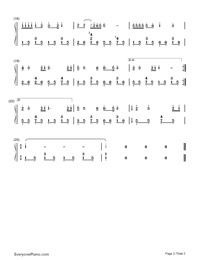 今天是你的生日,中國-谷建芬雙手簡譜預覽2