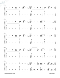 I Remember You-Tom Chaplin-Numbered-Musical-Notation-Preview-2