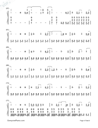 I Remember You-Tom Chaplin-Numbered-Musical-Notation-Preview-4