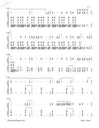 I Remember You-Tom Chaplin-Numbered-Musical-Notation-Preview-7