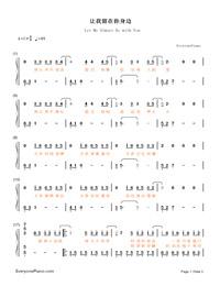 讓我留在你身邊-《擺渡人》愛情版主題曲雙手簡譜預覽1