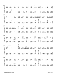 Sing For You When It's Lonely-The Hunger Games: Catching Fire theme-Numbered-Musical-Notation-Preview-2