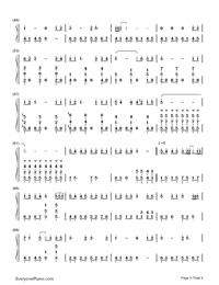 Sing For You When It's Lonely-The Hunger Games: Catching Fire theme-Numbered-Musical-Notation-Preview-3