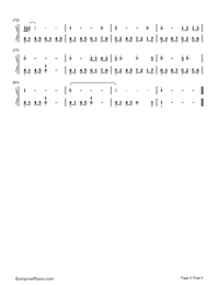 Sing For You When It's Lonely-The Hunger Games: Catching Fire theme-Numbered-Musical-Notation-Preview-4