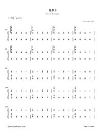Natsu Matsuri-JITTERIN'JINN-Numbered-Musical-Notation-Preview-1