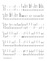 Natsu Matsuri-JITTERIN'JINN-Numbered-Musical-Notation-Preview-2
