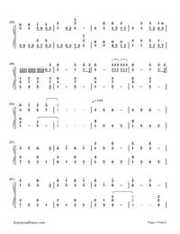 Natsu Matsuri-JITTERIN'JINN-Numbered-Musical-Notation-Preview-3
