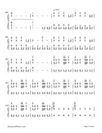 Natsu Matsuri-JITTERIN'JINN-Numbered-Musical-Notation-Preview-5