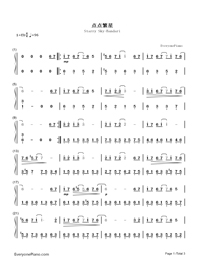 Starry Sky-Bandari-Numbered-Musical-Notation-Preview-1