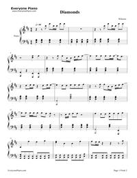 diamonds simple version rihanna free piano sheet music piano chords. Black Bedroom Furniture Sets. Home Design Ideas