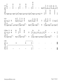 Dear-Hatsune Miku-Project DIVA-2nd OST-Numbered-Musical-Notation-Preview-6