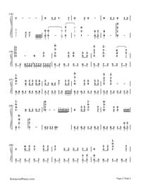 鉄血丹心-完璧演奏バージョン-83バージョン「射鵰英雄傳」OP両手略譜プレビュー2