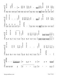 鉄血丹心-完璧演奏バージョン-83バージョン「射鵰英雄傳」OP両手略譜プレビュー3