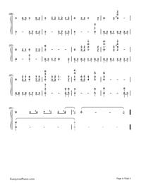 鉄血丹心-完璧演奏バージョン-83バージョン「射鵰英雄傳」OP両手略譜プレビュー4