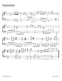 鉄血丹心-完璧演奏バージョン-83バージョン「射鵰英雄傳」OP五線譜プレビュー4