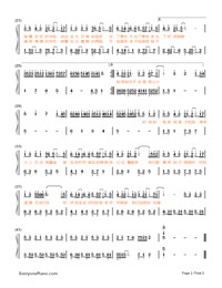 Song About You-Your Name theme-Numbered-Musical-Notation-Preview-2