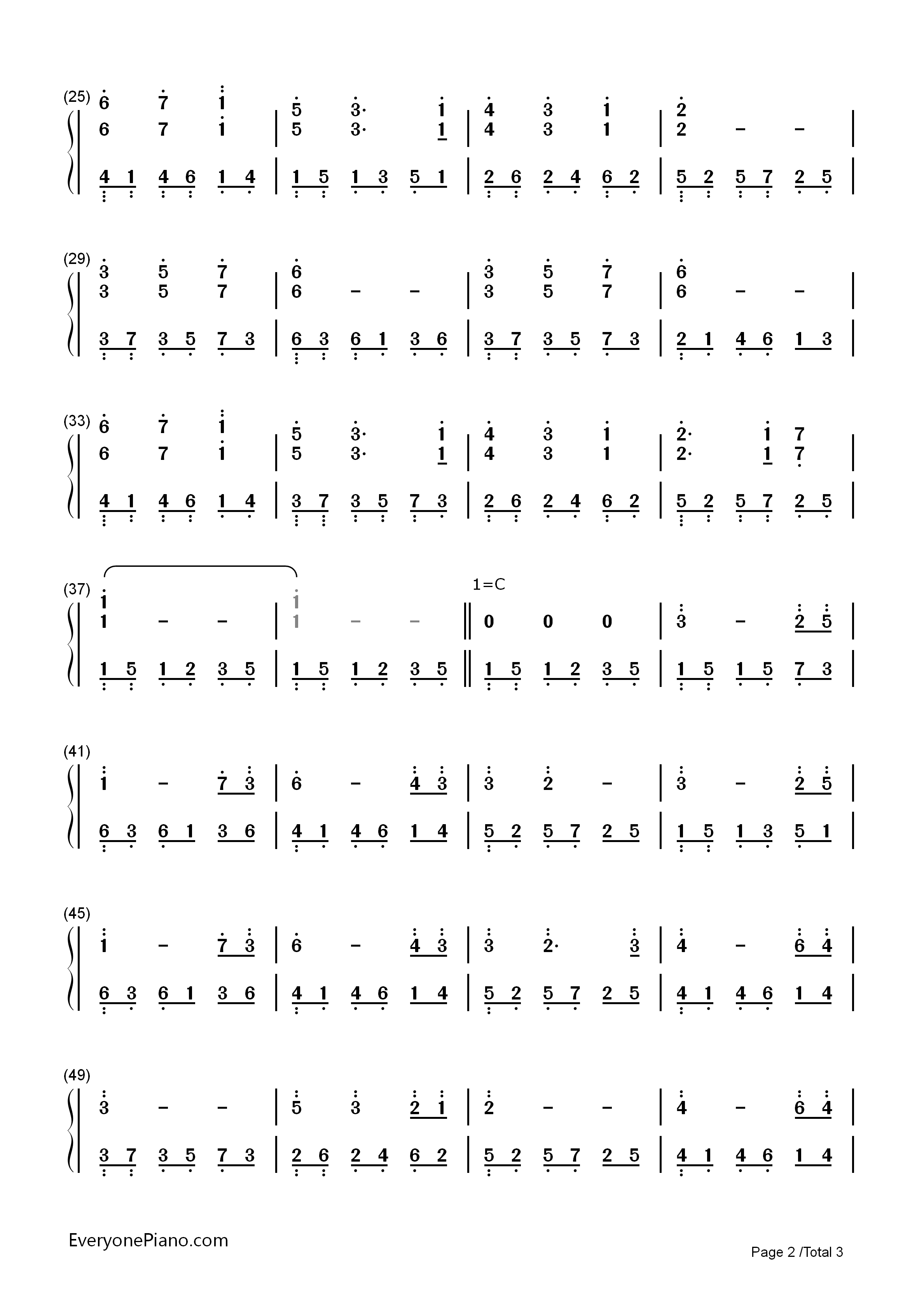 Wonderland-Bandari Numbered Musical Notation Preview 2