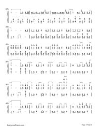 告白氣球-完美演奏版雙手簡譜預覽3