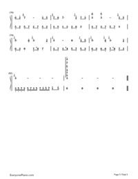 風居住的街道完美演奏版-矶村由紀子雙手簡譜預覽5