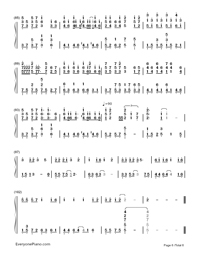 Days on the Beijing East Road-perfect version-Numbered-Musical-Notation-Preview-6