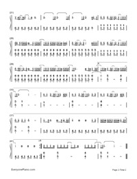 ZenZenZense-Your Name theme-Numbered-Musical-Notation-Preview-2