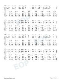 Old Driver Take Me With You-Yunnan folk song-Numbered-Musical-Notation-Preview-2
