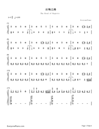 The Road of Regrets-Maple Story-Numbered-Musical-Notation-Preview-1