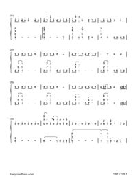 The Road of Regrets-Maple Story-Numbered-Musical-Notation-Preview-2