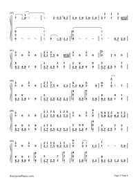 The Road of Regrets-Maple Story-Numbered-Musical-Notation-Preview-3