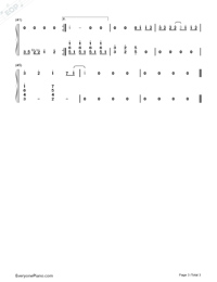 White Windmill-Jay Chou-Numbered-Musical-Notation-Preview-3