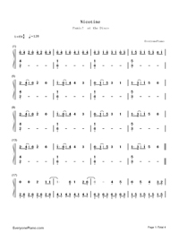 Nicotine-Panic at the Disco-Numbered-Musical-Notation-Preview-1