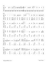 Nicotine-Panic at the Disco-Numbered-Musical-Notation-Preview-2