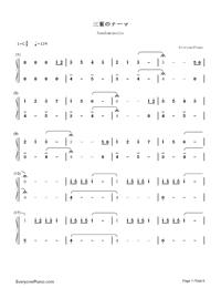 Nandemonaiya--Your Name-Mitsuha's Theme-Numbered-Musical-Notation-Preview-1