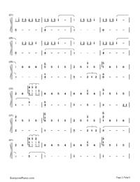 Nandemonaiya--Your Name-Mitsuha's Theme-Numbered-Musical-Notation-Preview-2