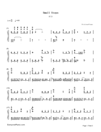 Small Steps-Yiruma-Numbered-Musical-Notation-Preview-1