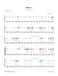 Down The River-Candle in the Tomb theme Numbered Musical Notation Preview 1