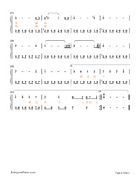 Down The River-Candle in the Tomb theme Numbered Musical Notation Preview 2