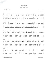 Beautiful-Guardian: The Lonely and Great God OST4-Numbered-Musical-Notation-Preview-1