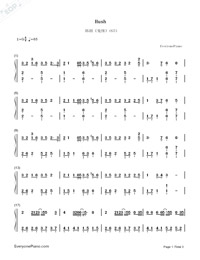 Hush-Guardian: The Lonely and Great God OST3-Numbered-Musical-Notation-Preview-1