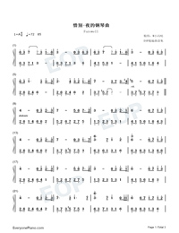Farewell-Melody Of The Night-Numbered-Musical-Notation-Preview-1