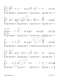 Farewell-Melody Of The Night-Numbered-Musical-Notation-Preview-2